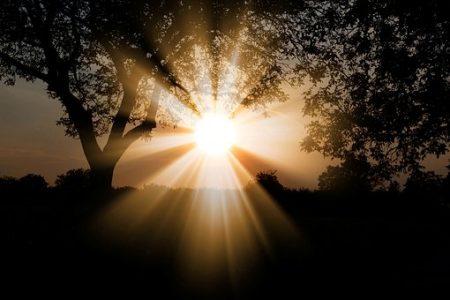 太陽 輝く